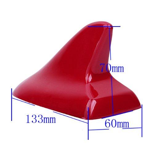 [해외]폭스 바겐 스타일 붉은 색 상어 지느러미 더미 더미 지붕 지붕 장식 범용 맞추기/VW Style Red Color Shark Fin Dummy Antenna Roof Top Decorative Universal Fit