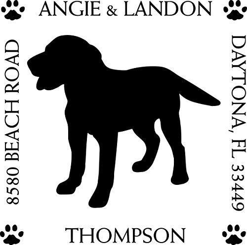 Labrador Retriever Square Return Address Stamp