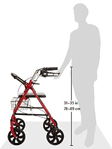 Drive Medical Four Wheel Rollator with Fold Removable