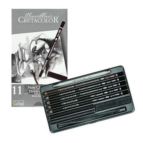 Cretacolor Noir Charcoal Drawing Set,Black
