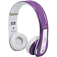 Miikey 711717910741 Rhythm Pro Wireless Bluetooth 4.0 Headphone with Microphone, White/Purple