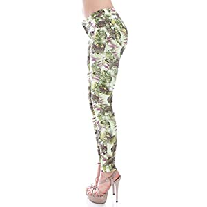 VIRGIN ONLY Women's Abstract Print Jeans