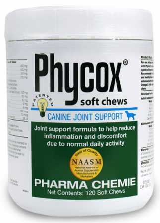 PhyCox Canine Joint Support Soft Chews for Dogs, 120 Count by PhyCox
