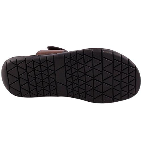 Unze New Men 'Julio' Casual Slider Slippers Sandals Beach Indoor Outdoor Summer UK Size-8 UK ,Brown