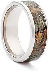 #1 CAMO Wedding Rings - Camouflage Engagement Band - Bevel Titanium