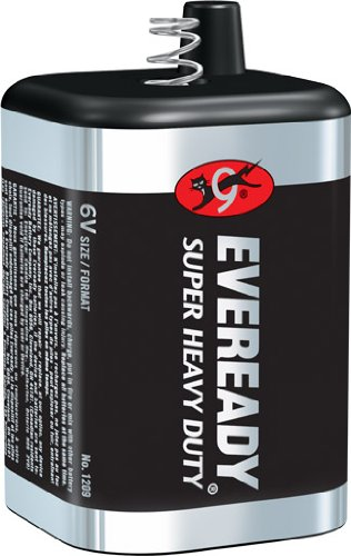 Eveready 6 Volt Lantern Battery 1209 (Super Heavy Carbon Duty)