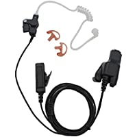 GoodQbuy Covert Acoustic Tube Earpiece Headset Mic for Motorola HT1000 MT2000 MTS2000 MTX8000 MTX9000 HT2000 JT1000 Radio Security Door Supervisor