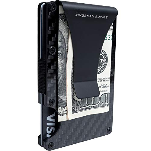 Minimalist Carbon Fiber Slim Wallet RFID Front Pocket EDC Wallet Money Clip
