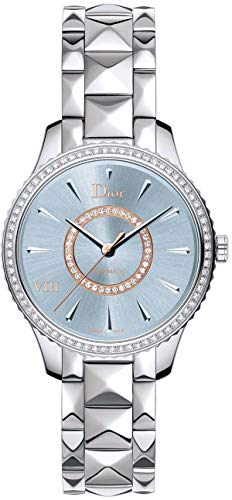 Christian Dior VIII Montaigne Blue Dial with Diamonds 36mm Women's Watch