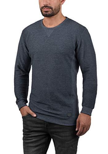 Redondo Insignia Sudadera Melange Rico Sweater Solid Cuello 8991 Azul Hombres Sweatshirt aOnYqWwZT