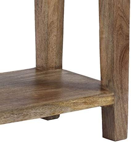 Koel Festnight tafel console bijzettafel woonkamertafel acaciahout massief 101 x 35 x 80 cm bruin tW5gX4z