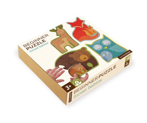 Petit Collage Beginner Puzzle, Forest Babies, Baby & Kids Zone
