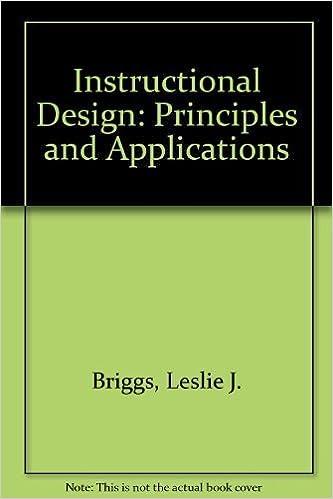 Instructional Design Principles And Applications By Leslie J Briggs 1991 01 03 Leslie J Briggs Amazon Com Books