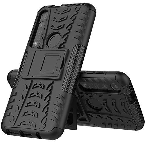 Funda Con Soporte Para Motorola Moto G8 Plus (Negra)