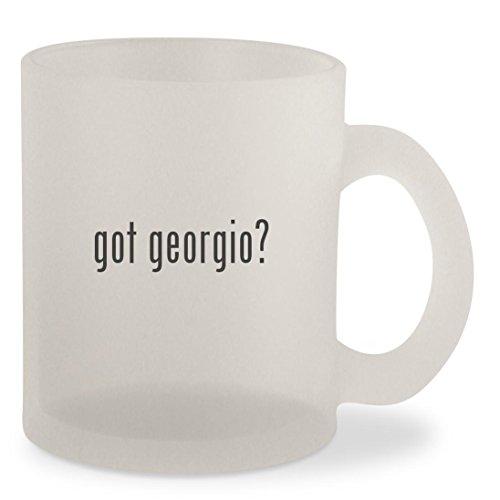 got georgio? - Frosted 10oz Glass Coffee Cup - Georgio Amani
