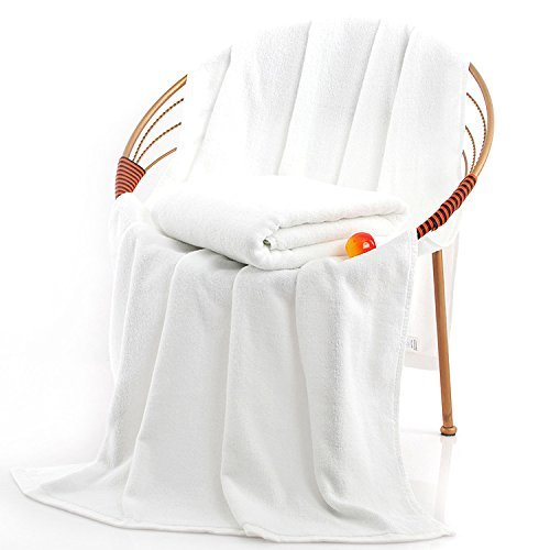 Premium Bath Towels, Circlet Egyptian Cotton White Towel Set, Hotel Quality Soft and Highly Absorbency Towels
