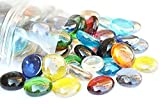 100 Mixed Colours Round Glass Pebbles/Stones/Gems/Nuggets /Beads 17-20mm