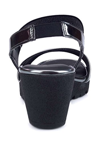 Compensée Bia Semelle Femme Sandale The Gris Fer Flexx IApwqpx4B