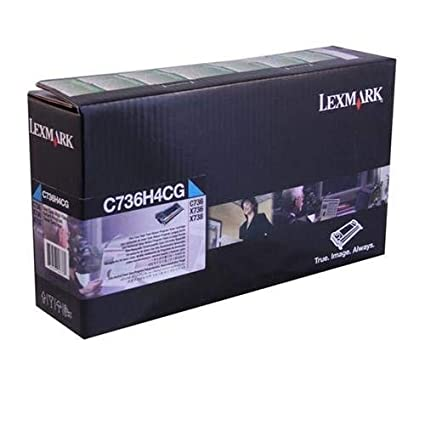 Lexmark High Yield Yellow Return Program Toner Cartridge for US Government, 10000 Yield (C736H4YG)