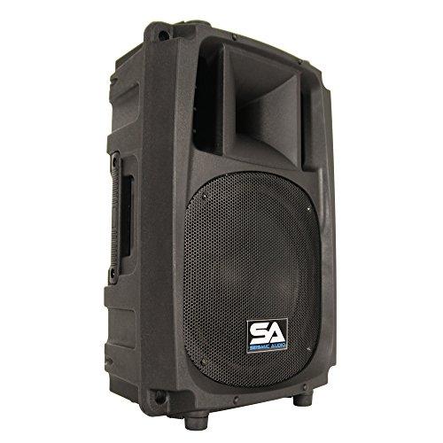Seismic Audio L_Wave-10 Powered 2-Way 10-Inch PA/DJ Molded Speaker Cabinet Active 200-Watt Loudspeaker ()