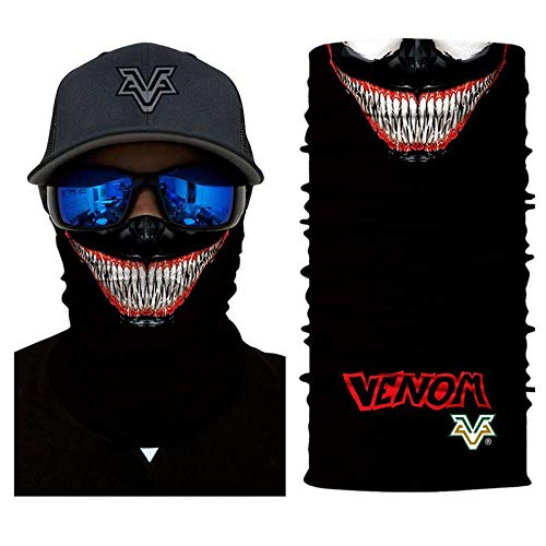3D Bandana Headscarf Venom Face Spider Masks Scarfs Movie Cosplay Scarf Mask Tube Neck Full Lower Half Shield Sun Hiking Headwear No.223