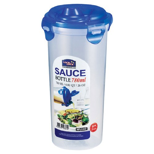 LOCK & LOCK 26-Fluid Ounce Round Sauce Container, Tall, 3.2-Cup (Containers Locknlock)