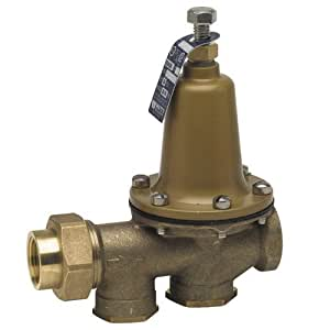 "Watts 3/4 LF25AUB-Z3 Valve, 3/4"" Pressure Reducing NPT Threaded Female Union Inlet x NPT Female Outlet - Lead Free"