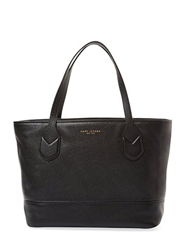 Marc Jacobs Classic Shopper Leather Tote Bag (Black)