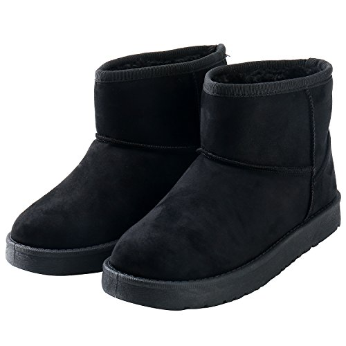 Image of Alexis Leroy Women's Classic Pull-On Style Short Snow Boot Black 40 M EU / 9-9.5 B(M) US