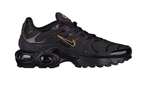 Nike Air Max Plus Tn (gs) Sneaker Giovanile Nero / Nero-oro Metallizzato