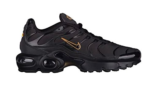 Nike Air Max Plus Tn (gs) Jeugd Sneaker Zwart / Zwart-metallic Goud