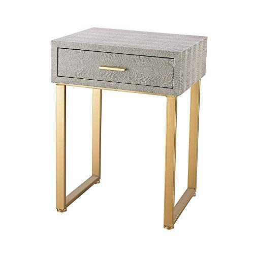 Sterling Artistic Beaufort Point Shagreen Accent Side Table, Gold/Grey