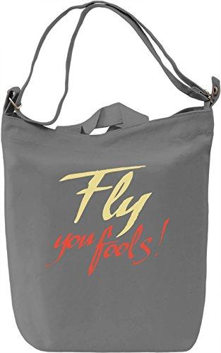 Fly You Fools Borsa Giornaliera Canvas Canvas Day Bag| 100% Premium Cotton Canvas| DTG Printing|