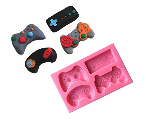 A&J Game Controller Mold Silicone Video Game Controller Mold Gamepad Fondant Mold for Chocolate, Resin, Clay