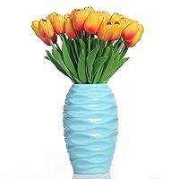 Fiori artificiali finti, tulipani in lattice, decorazione fai da te per matrimonio, stanza d'albergo, ecc.