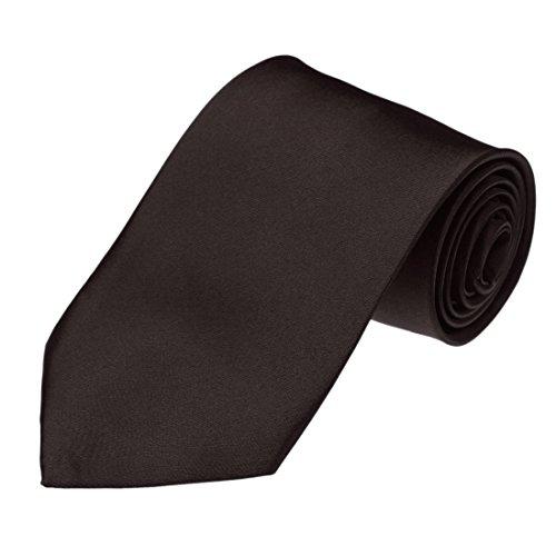 DAA3E01I Dark Sienna Solid Woven Microfiber Tie Excellent For Comfort Neck Ties For Marriage By Dan - Tie Brown Solid