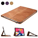 "Boriyuan Leather Case for iPad Pro 11"" 2018-[Support Apple Pencil Pair & Charging]"