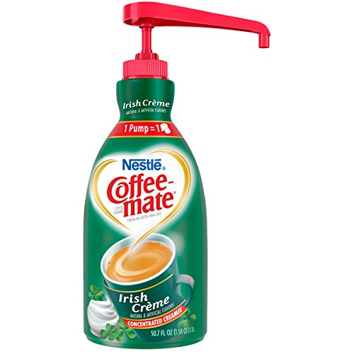 NESTLE COFFEE-MATE Coffee Creamer, Irish Creme, 1.5L liquid pump bottle, Pack of (Irish Cream Coffee Creamer)