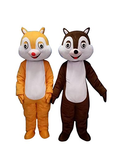 Sinoocean Chip and Dale Chipmunk Squirrel Mascot Costume