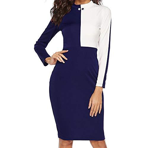 Women Dress Ladies Sexy Long Sleeve Work Wear