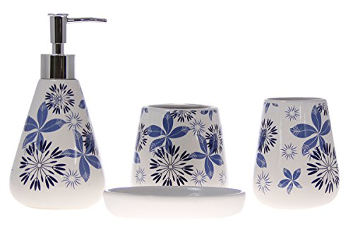 JustNile 4 Piece Gardenesque Bathroom Accessory product image