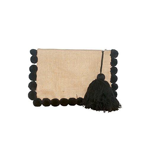 Pochette pompons Noir à Noir noirs Pochette pompons à noirs à Pochette 7OBFWFn56d