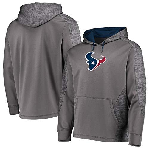 Houston Texans Men's Majestic Armor Pullover Hoody Sweatshirt - Charcoal Large