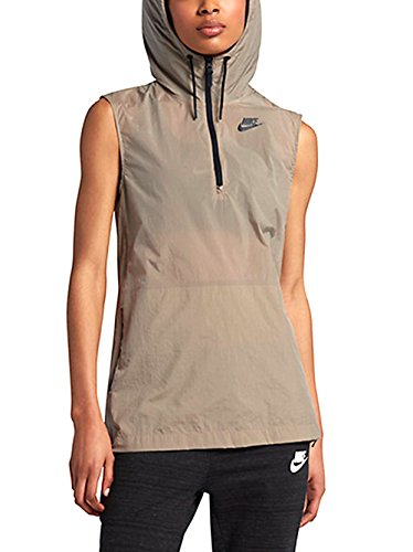 - Nike Womens Tech Hypermesh Full Zip Vest 833464 235 Khaki (L)