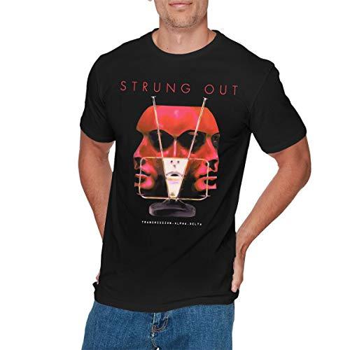 KYLE SHEPHERD Mens Funny Strung Out Transmission T Shirt 4XL Black