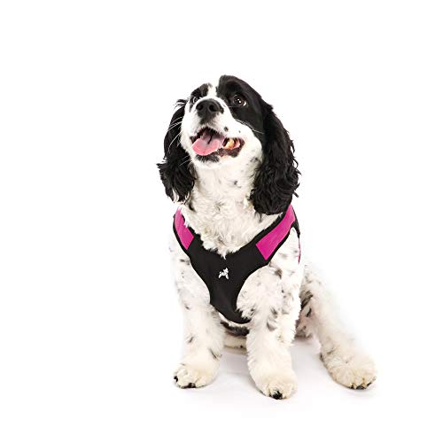 Gooby - Escape Free Easy Fit Harness, Small Dog Step-In Harness for Dogs that Like to Escape Their Harness, Hot Pink, Large