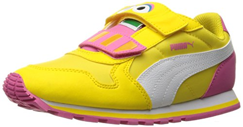V.1 Chukka (PUMA Girls' Sesame STR ST Runner Big Bird hoc V PS Chukka, Dandelion White, 1 M US Little Kid)