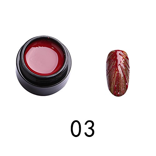 - Dolloress Beauty Nail⭐LULAA 5ML Sculpture 3D Carved Glue Drawing Painting UV Gel Acrylic Nail Art Tool-6 Colors for Choice