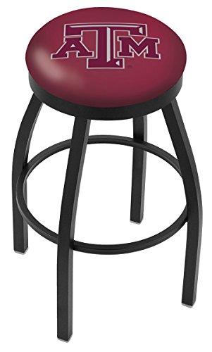 """Texas A&M Aggies HBS Black Swivel Bar Stool with Maroon Cushion (25"""")"""