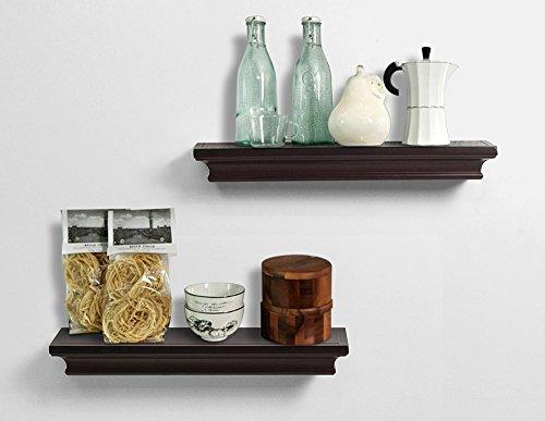 wall shelf set espresso - 1